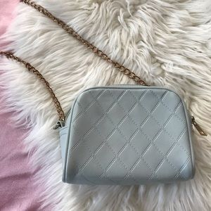 forever 21 baby blue quilted mini crossbody bag